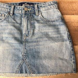 Hollister High Rise Jean Skirt
